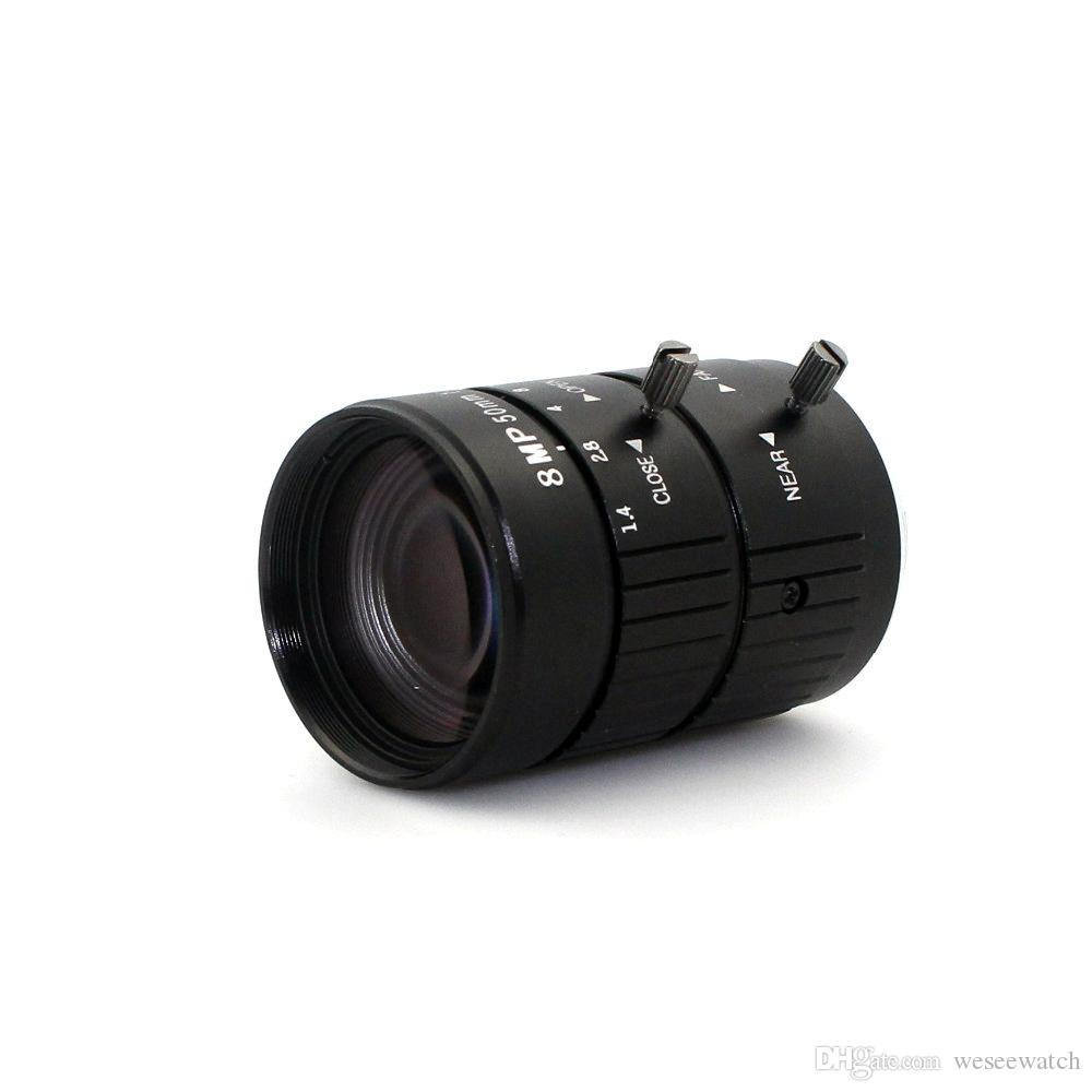 8MP 4K 1:1.4 50mm F1.2 Manual ITS Road Traffic Surveillance CCTV Lens C Mount for 5MP 6MP 8 Megapixel HD Box Body Camera