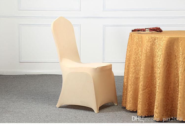Universal White Spandex Chaise De Noce Couvre Blanc Spandex Lycra Housse De Chaise pour Banquet De Noce Beaucoup Couleur