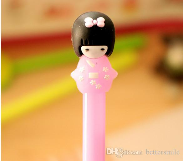 Wholesale gel pen \And girl doll creative cartoon neutral pen writing pen 024