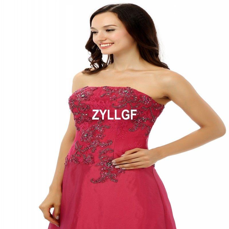 Strapless New Arrival Zipper Beaded Flower Pattern Sleeveless Evening Dresses Plus size Dresses Formal Gown Robe De Soiree