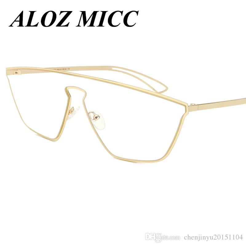 5052ba8abb6 NEWEST Fashion Women Cat Eye Eyeglasses Frame Brand Design Metal ...