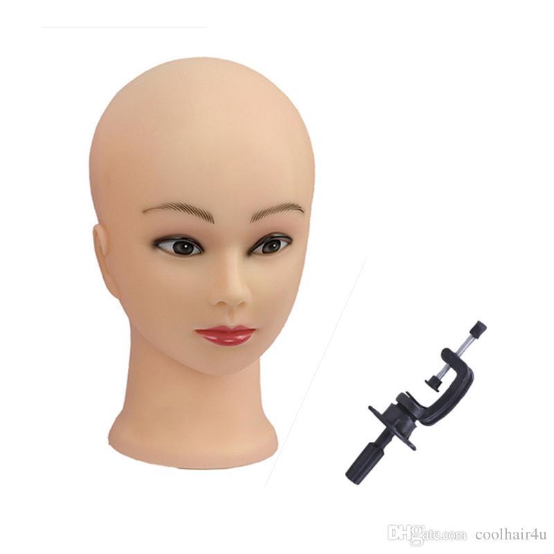 Envío gratis buena 1 unids maniquí cabeza femenina pelucas cabeza del maniquí cabeza del maniquí para pelucas + abrazadera
