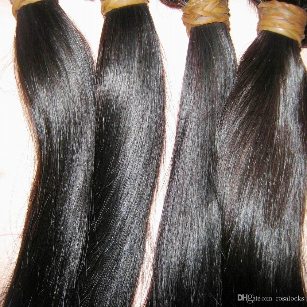 Лучшие малазийские девственные волосы прямые 1 шт. / Лот 12