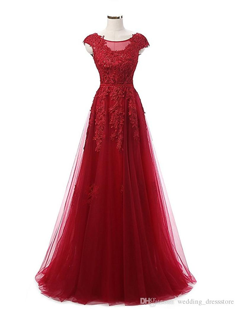 Fast Shipping Cheap Party Gowns 2017 Robe De Soiree Grande Taille Long Elegant Burgundy Evening Dresses