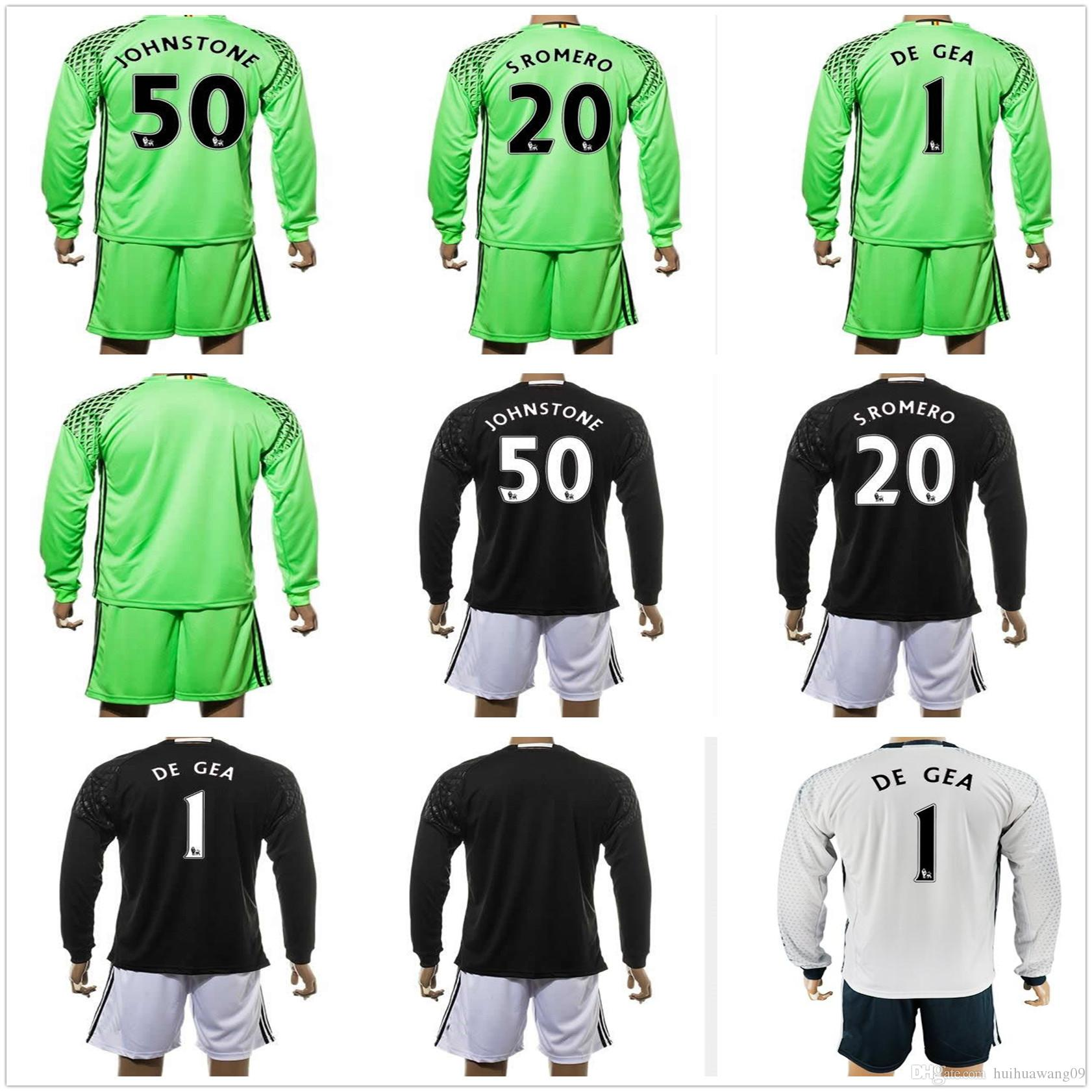newest collection c337c f3c9b manchester united 1 de gea away long sleeves mens adults ...