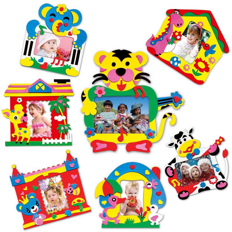 2018 Wholesale Diy Eva Foam Sticker Photo Frame Crafts Children Self ...