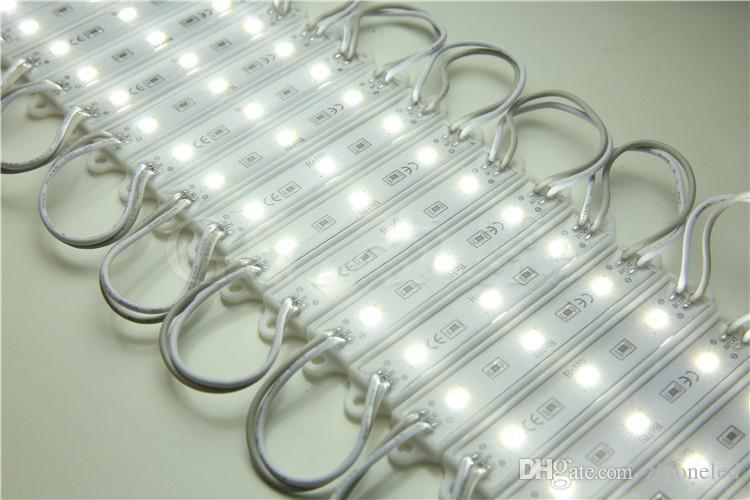 SMD5730 LED modülü ışık lamba su geçirmez modülleri DC12V 3 Leds Burcu Led Mektuplar Kanal Mektuplar Için Beyaz Sıcak Beyaz