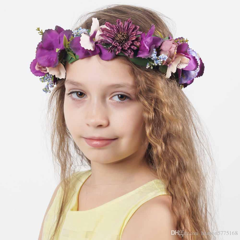 Flower Headband For Teens Head Band With Vantage Bridal Fabric Crown