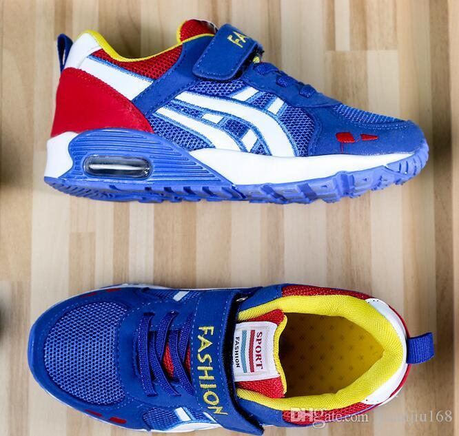 Nouveau Design Enfants sport chaussures garçons et filles coussin d'air chaussures confortable enfants baskets enfant chaussures de course Taille 27-38 G427