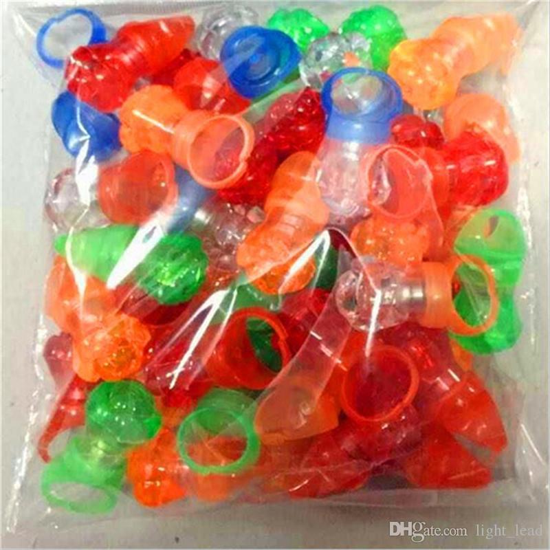 Led Finger Ring Light LED Flashing Light Up Strawberry Blinking Party Rave Glow Finger Ring Toys For Children