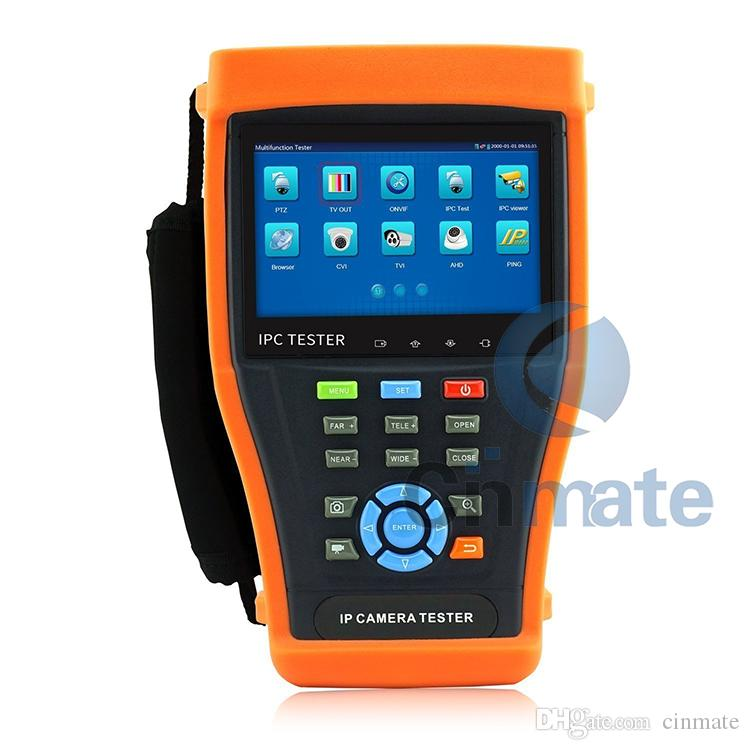 4.3 Inch Touch Screen IP Camera Tester CCTV Tester Analog Tester with POE/IP discovery/Rapid ONVIF/WIFI/4G TF Card/HDMI Out IPC-4300