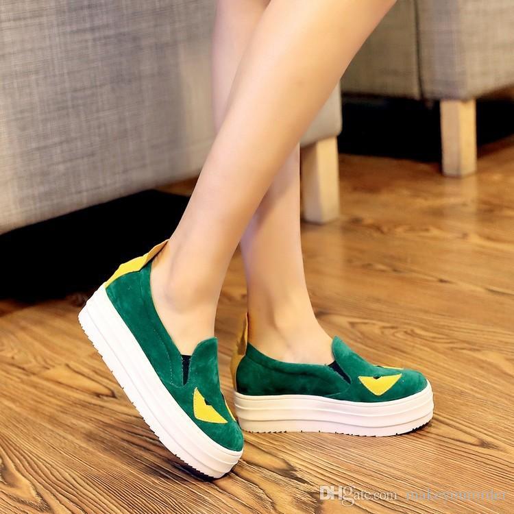 grossista trasporto libero prezzo di fabbrica venditore caldo scarpe casual piattaforma delle donne studente aumento di altezza scarpa 083