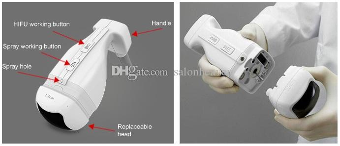 UltraShape Liposonix Máquina de lipohifu de grado médico de grado médico ultrasonix con 13 mm 8 mm cartuchos liposonix liposonix para la forma rápida del cuerpo