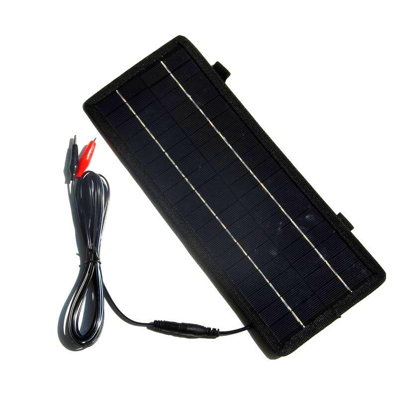 جديد قوي! 12V المحمولة لوحة للطاقة الشمسية شاحن بطارية 4.5W لشاحنة موتو شاحن بطارية شحن مجاني