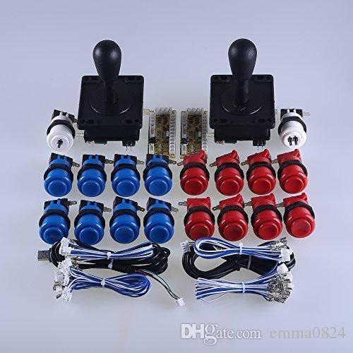 Classic Arcade Game machine DIY Parts for Cabinet 2x Zero Delay USB Encoder  + 2x 8 Way Classic Arcade Joystick + 18x Arcade push button