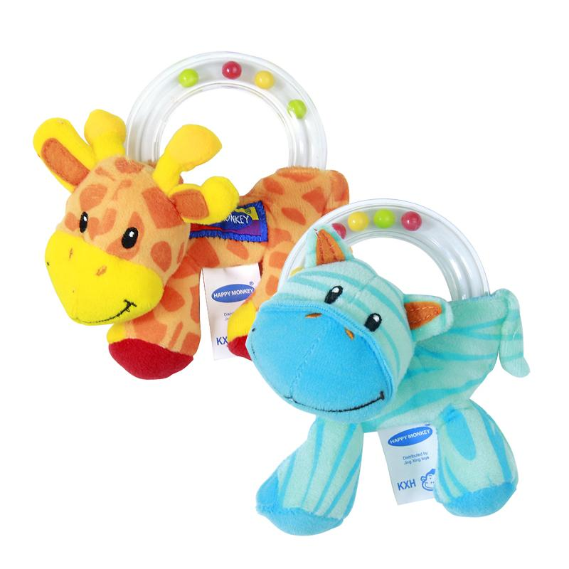 Wholesale Baby Toys : Wholesale new baby toy cute plush rattle holding
