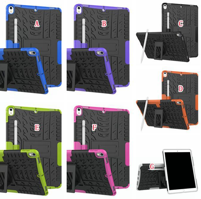 """For Ipad Pro 10.5"""" 2017 Version Tablet Hard PC TPU Case Hybrid Camo Shockproof Tyre Tire Heavy Duty Stand Colorful Skin Cover Fashion"""