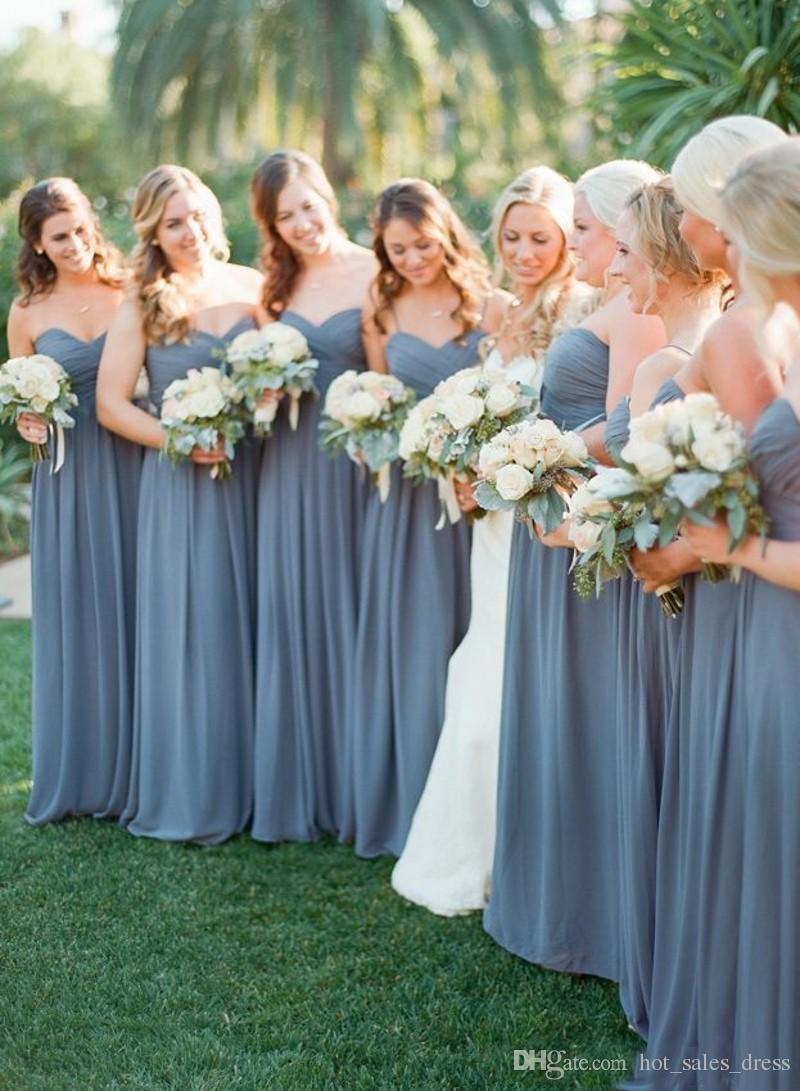 New Arrival Bridesmaid Dresses Cheap Off The Shoulder Long Chiffon ...