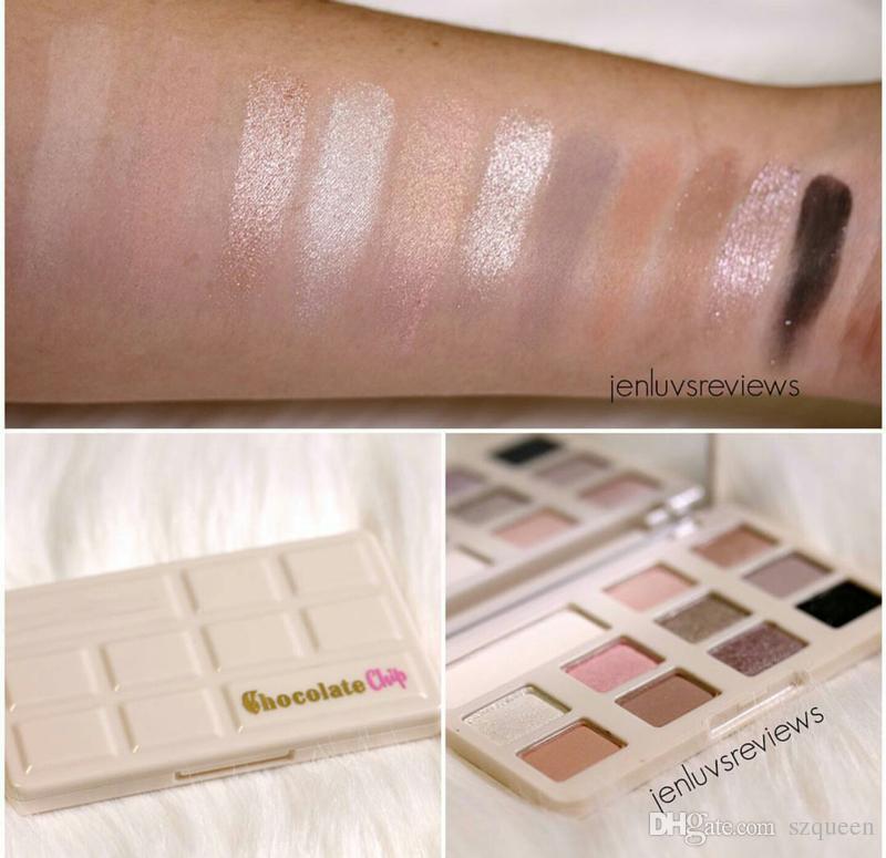 Neue Schokoladen-Chip Lidschatten 11 Farben Make-up Professionelle Lidschatten-Palette Weiß und Matt Make-up Lidschatten DHL frei 660163
