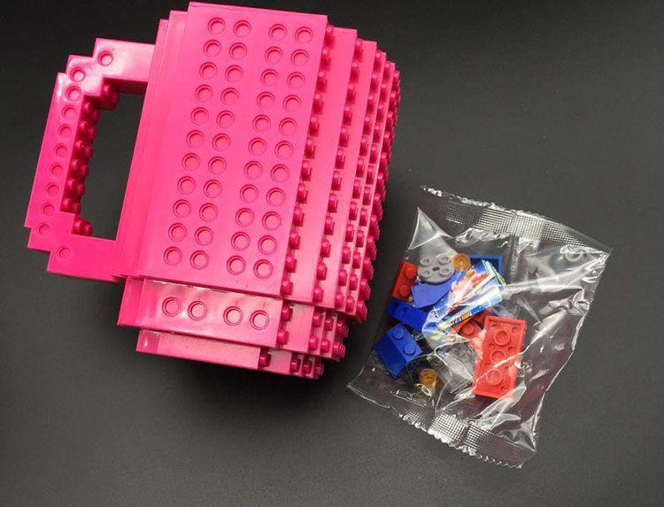 350 ml Kreative Milch Becher Kaffeetasse Bausteine Tassen Männer Frauen Kinder Personalisierte Dekompression Wasser Tasse 10 farbe WX-C13