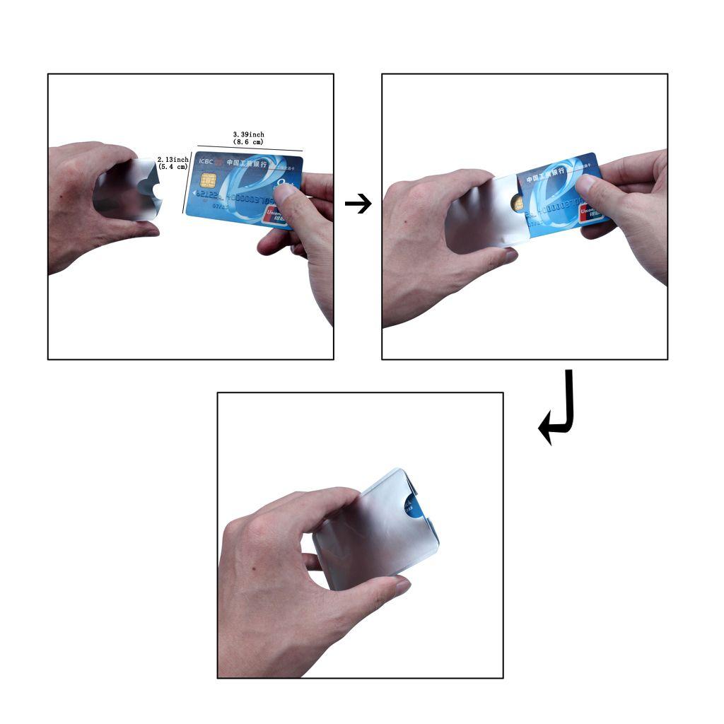 Papel de aluminio Tarjeta de seguridad Escudo Tarjeta de crédito Protección RFID Mangas de seguridad antirrobo Protector Protector Tarjeta de seguridad impermeable