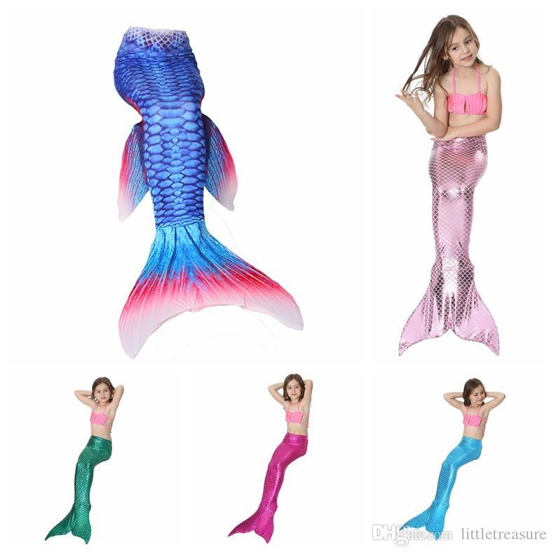 88b89566a76a2 2019 Baby Girls Beach Mermaid Tail Swimwear Bikinis Cartoon  Sets Swimming  Suit Swimsuit Swim Kids Clothing From Littletreasure