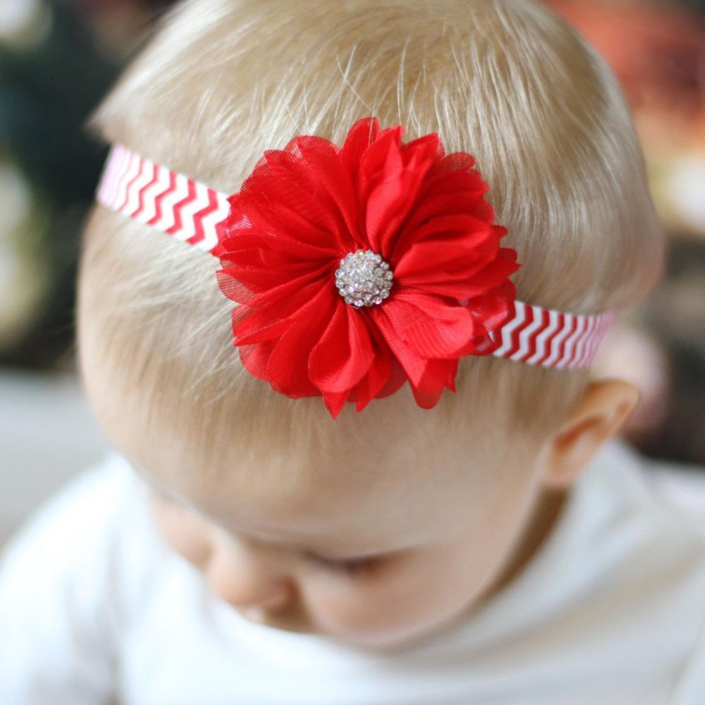 Großhandel Baby Rhinestones Haar Zusätze Weihnachten Handgemachte ...