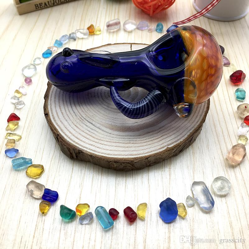 "Heady Spoon Pipes 3.3"" inch Wholesale Glass Pipe Colored Oil Tobacco Pipes for Smoking High Quality Herbal Hand Pipes"
