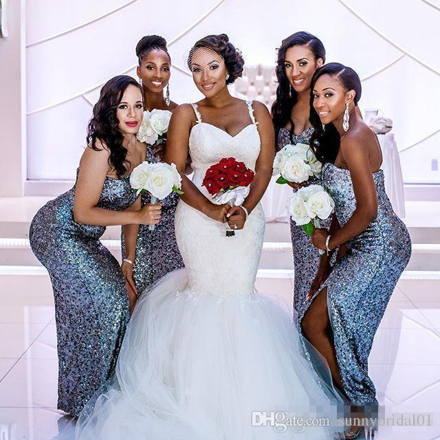 2017 abiti da sposa romantici africani nuovo appliques di pizzo dell'innamorato sexy sheer indietro più il formato nero ragazza lungo sweep treno economici abiti da sposa