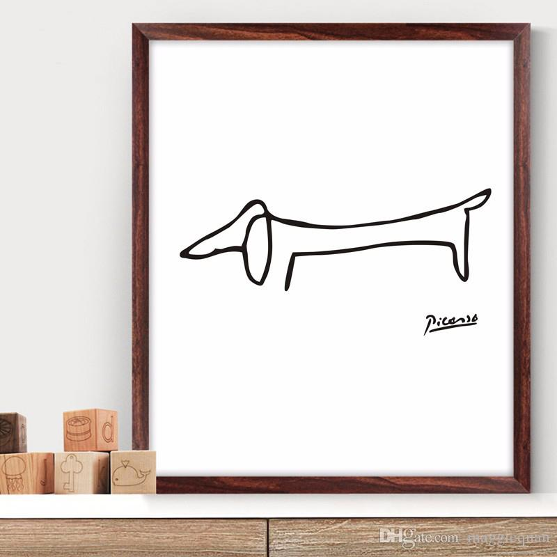 Modern Abstract Canvas Poster Minimalist Wall Art Prints Geometric Picasso Animal Paintings for Living Room Scandinavian Wall Decor Unframed