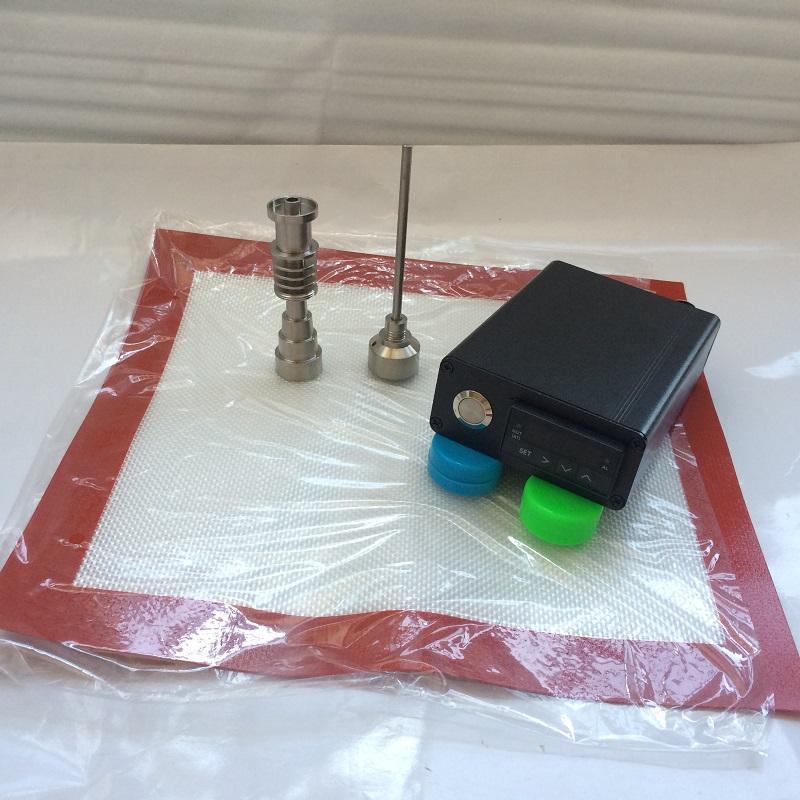 e dab nail kit D nail nail dab cuarzo control de temperatura PID dabber box tiantium clavos 18mm 14mm tubería de agua conjunta