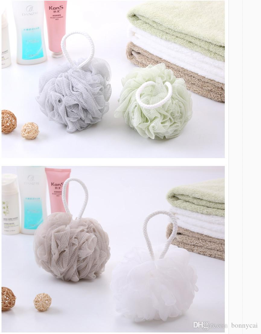 The newest Mesh bath flower 60g Shower Bath Ball Bath Sponge for promotion gift in variedcolour