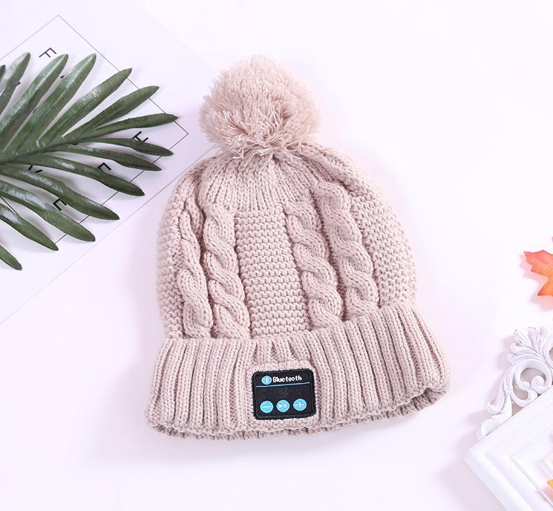 2017 weihnachtsgeschenk neue ankunft bluetooth beanie hut kappe gestrickt winter magie freisprecheinrichtung musik mp3 hut für frau männer smartphone