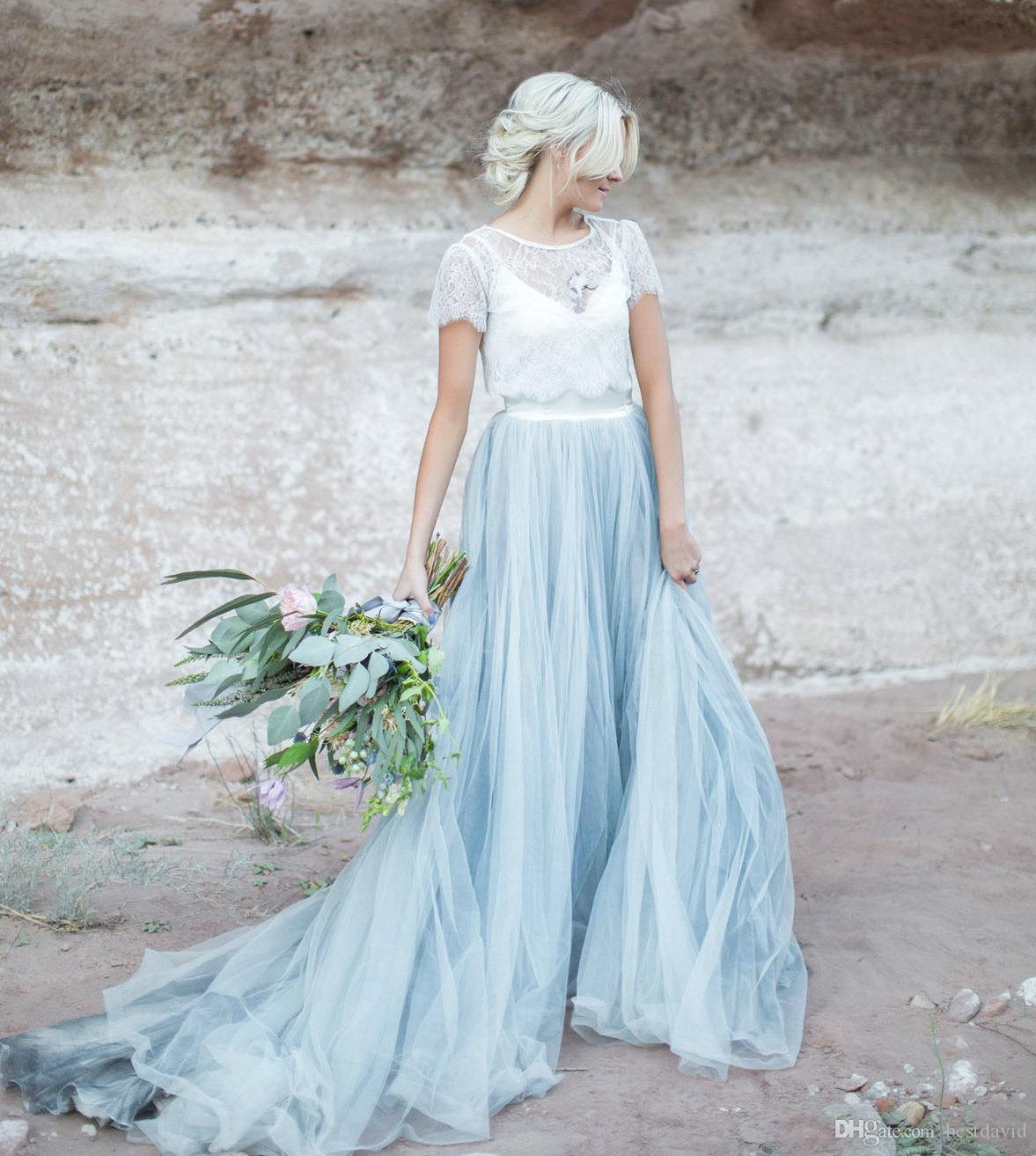 Discount Desert Colorful Wedding Dresses Inspiration With Short ...