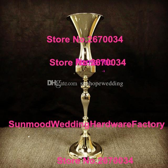 زفاف جديد زهرة زهرية الوقوف البوق إناء معدني لحفلات الزفاف الديكور المركزية