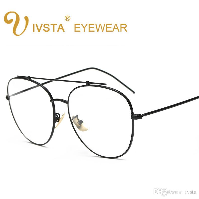 2018 Ivsta 2018 New Elegant Round Wire Glasses Fashion Gold Metal ...
