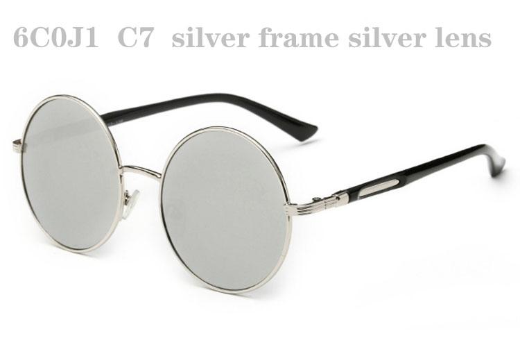Óculos De Sol Para Homens Mulheres Designer de Óculos De Sol Dos Homens Óculos De Sol Da Moda Sunglases Das Mulheres De Luxo Óculos De Sol Unisex Espelho Redondo Óculos De Sol 6C0J1