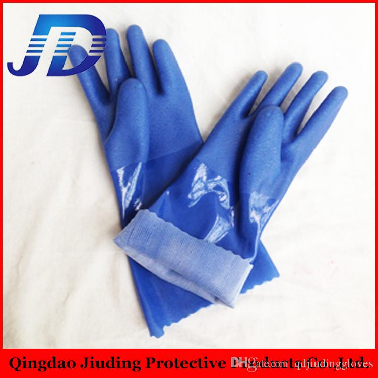 JIUDING SAFETY 12 Pairs Industrial Safety Pvc Coated Work Gloves for oil  and gas with china glove manufacturer