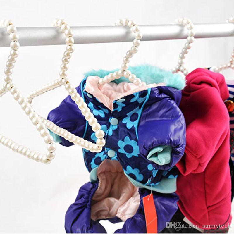 Elegant Plastic Pearl Kid Baby Clothes Hangers & Racks 20cm Child Drying Hanger for Kid Clothing Store Supplies ZA1371
