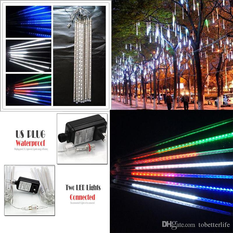 set Christmas light Snowfall LED Strips Christmas Rain tube 20 30 50 cm Meteor Shower Rain LED Light tubes EU US Plug