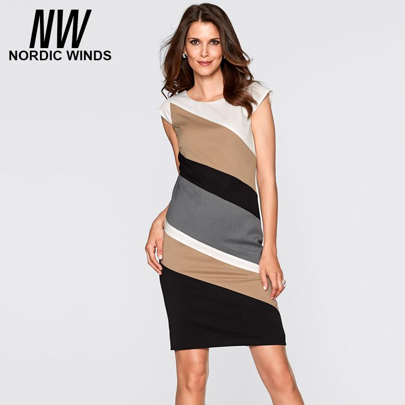 2018 Wholesale Business Office Women Career Dress Summer Plus Size