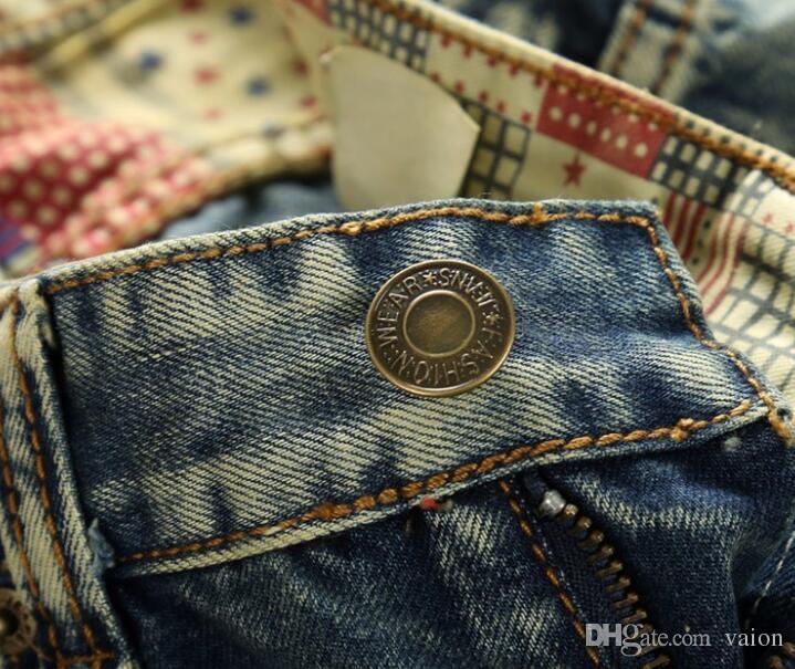 Hommes Déchiré Jean Taille 28-38 Livraison Gratuite NOUVEAU jeans Hommes Italie Célèbre Marque Hommes Déchiré Patch dsl Jeans De Mode Denim biker