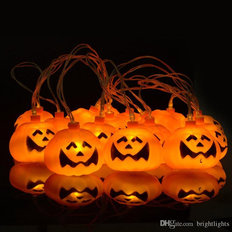 Cheap Funny Face Halloween Pumpkin Grimace Led String Lights By ...