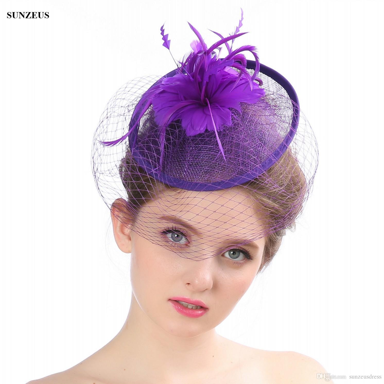 b71559f7 Beautiful Wedding Hats And Fascinators Hand Made Evening Party Hats Elegant  2017 Bridal Accessories Chapeu Para Noiva Ladies Dress Hats Millinery Hats  From ...