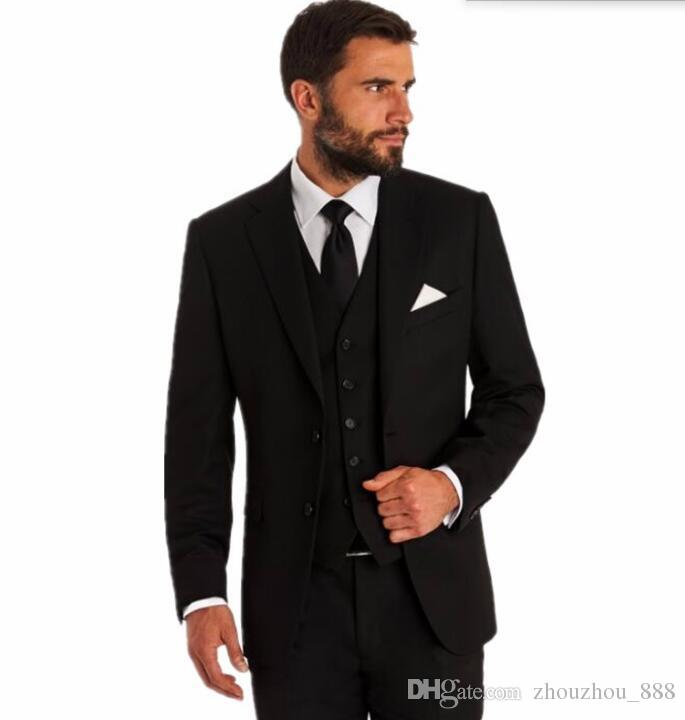 New style Men Suits Groomsmen suits Groom for men latest coat pant designs Tuxedos Wedding Best Man Suit(Jacket+Pants+vest)