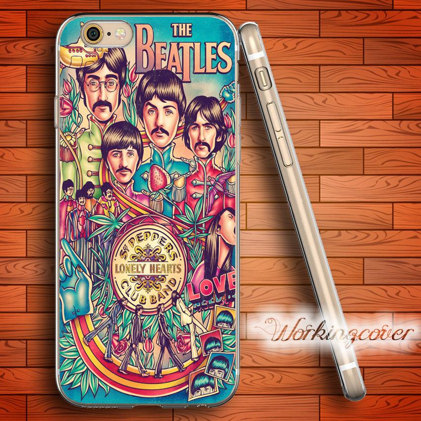 the latest cee6a 73019 Fundas Vintage The Beatles Soft Clear TPU Case for iPhone 7 6 6S Plus 5S SE  5 5C 4S 4 Case Silicone Cover.