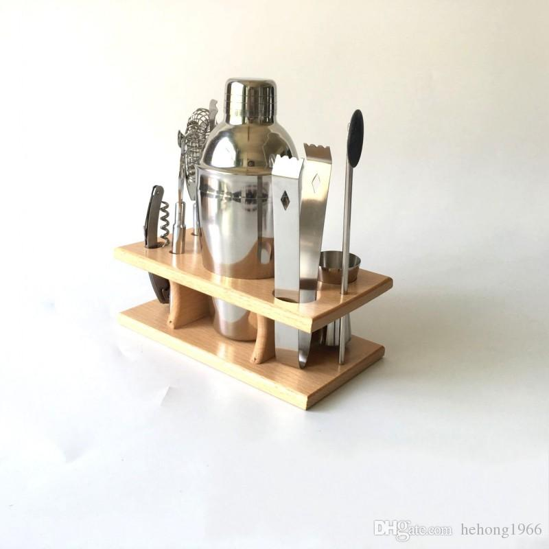 Kit de coctelera de acero inoxidable Coctelera de coctelera de vino tinto Juego de paleta de metal de estilo occidental Kit de barra de fácil limpieza 51 5mc I