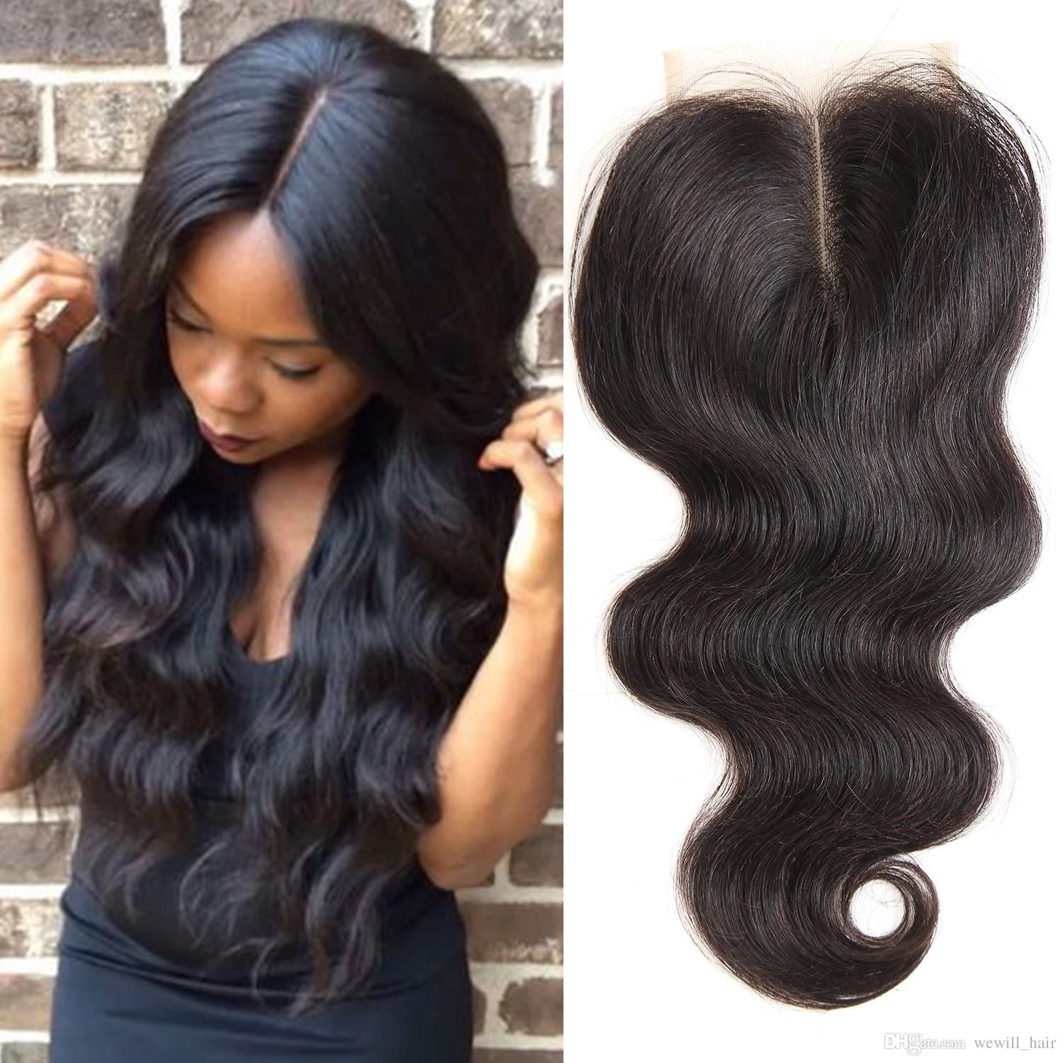 Brazilian Virgin Human Hair Weave Bundles Wish 4 4 Closure