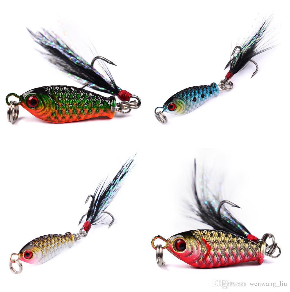10 قطع 4-color 2.5 سنتيمتر 5.27 جرام الرقص الصيد السنانير الخطافات 8 # هوك الطعوم المعدنية السحر الاصطناعي الطعم pesca صيد السمك الملحقات