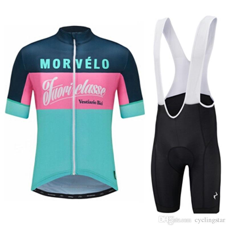 2017 newest Summer Morvelo cycling Jersey and bib shorts 3D gel pad bicycle clothing ropa ciclismo bib set accept mix size E1903
